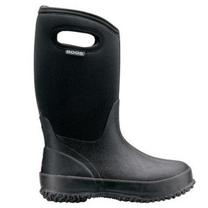 Bogs Kids Classic Black with Handles
